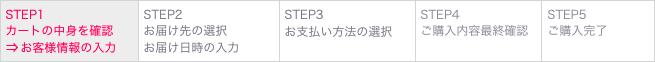 (3) STEP1 カートの中身を確認⇒お客様情報の入力