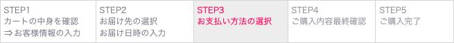 (5) STEP3 お支払いの方法の選択